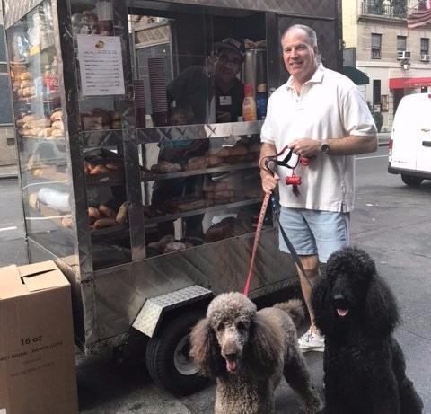 koffie met zijn honden